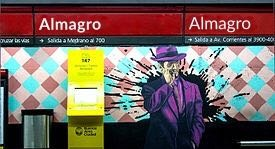 SUBTE CON EL NOMBRE ALMAGRO 11