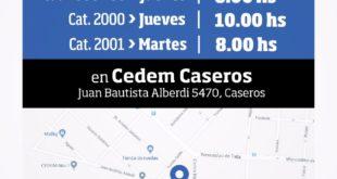 PRUEBAS CATEGORIAS 1998 A 2001