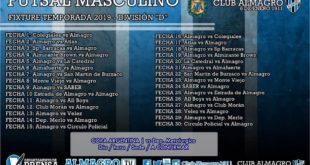 FUTSAL MASCULINO: SE SORTEO EL FIXTURE DE A.F.A
