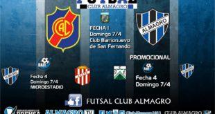 FUTSAL: Almagro debuta ante Colegiales en el Campeonato de Futsal de AFA.